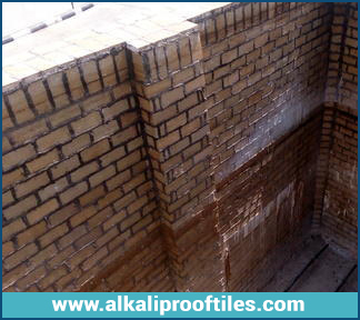 ALKALI PROOF BRICK LINING