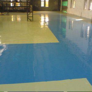 Epoxy self-leveling floor paint